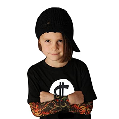 New Style For Your Baby,Coper ® Little Boy Girl Long Sleeve Tattoo Print T-shirt (110, Black)