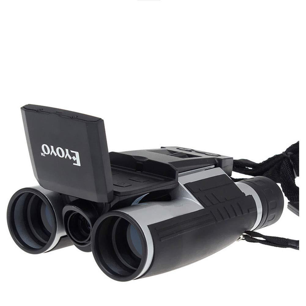 CCHAO Telescopio USB Binocular Bak4 Material 12X 12X 12X HD Digital para Deportes De Campo,Negro 751eba