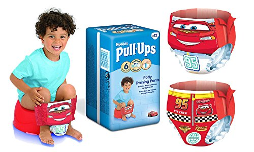 36 (12x6) Huggies Pull-Ups Potty Training Pants For Boys & Girls - Large (Size 6) (Boys)