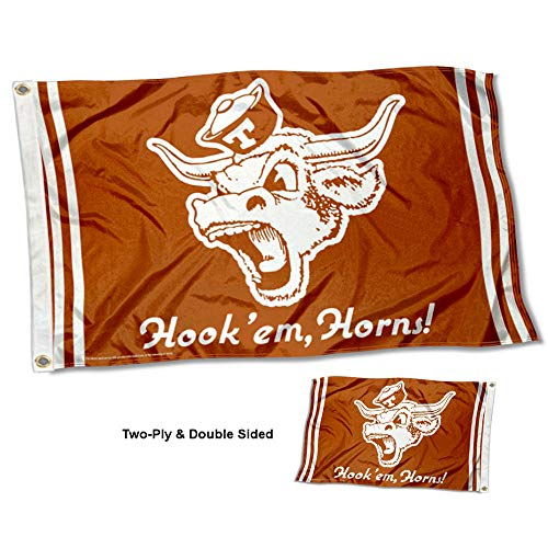 College Flags and Banners Co. Texas Longhorns Vault Throwback Vintage Double Sided Flag