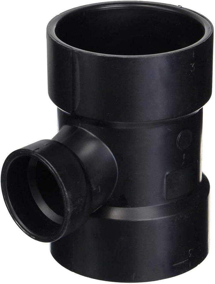"3/"" x 3/"" x 1-1//2/"" Genova Products 81131 ABS-DWV Reducing Sanitary Tees"