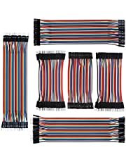 IZOKEE 240pcs 10CM and 20CM Jumper Wires Solderless Breadboard Jumper Wires Male to Female, Male to Male, Female to Female for Arduino (3x10cm, 3x20cm)