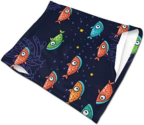 フェイスカバー Uvカット ネックガード 冷感 夏用 日焼け防止 飛沫防止 耳かけタイプ レディース メンズ Colorful Fish