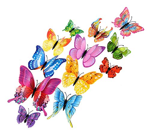 MINI FACTORY 12PCs Butterfly Decoration Stickers