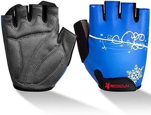 手袋 サイクリンググローブ 夏 3D 立体 サイクルグローブ 自転車 手袋 衝撃吸収 耐磨耗性 換気性 通気性 速乾性 滑り止め付き SGSJP (Color : 青, Size : XL)