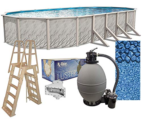 Lake Effect Meadows Reprieve 18' x 33' Oval Above Ground Swimming Pool | 52