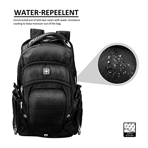 Suissewin big business travel outdoor mountain climbing computer backpack(SW9275I) (Black) by Swisswin (Image #3)