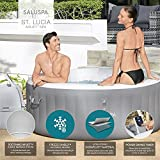 Bestway St. Lucia AirJet Inflatable Hot Tub Spa, Gray