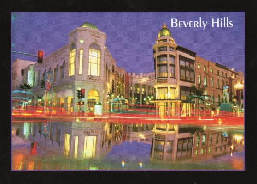 BEVERLY HILLS CALIFORNIA POSTCARD 035 from Hibiscus - Shops Drive Rodeo At