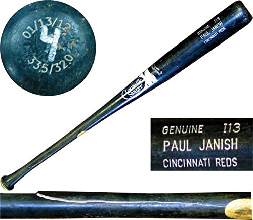 Paul Janish Unsigned Cracked Game Used Bat - MLB Autographed Game Used Bats (Mlb Unsigned Bats)