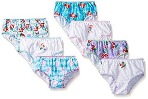 Disney Big Girls' Ariel 7 Piece Pack Panty, Assorted, 8