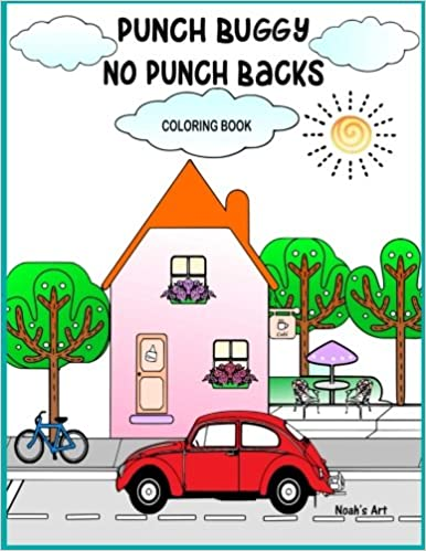 Punch Buggy No Punch Backs Coloring Book: Punch Buggy Car coloring ...