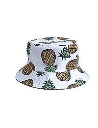 YueLian Women's Summer Printed Fancy Outdoor Sun Protection Bucket Hat