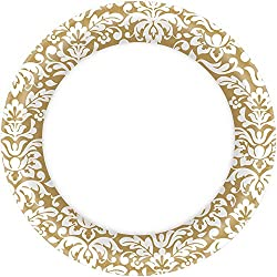"Gold Paper Plates , 6"", Pack of 40"