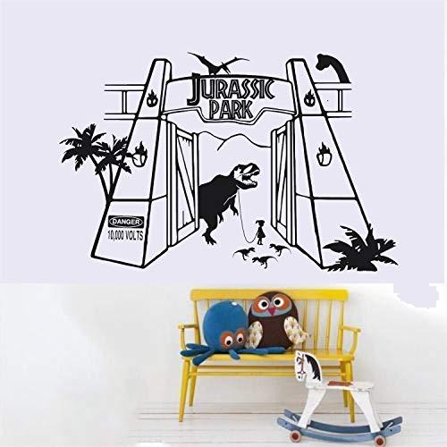 Jurassic Era Little Girl Walking T-Rex Dinosaur Little Ones Nursery Decal Home Decor Sticker
