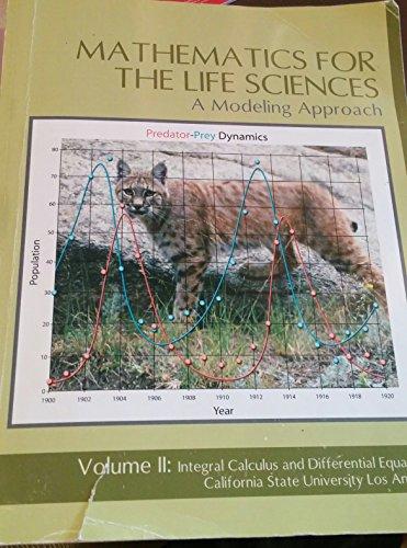 Mathematics for the Life Sciences Vol 2