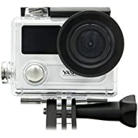 Yashica YAC-430 4K UHD Action Camera with Wi-Fi, 170 Degree Lens, Silver