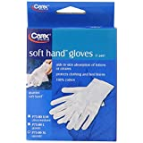 Carex Health Brands Soft Hands Cotton Gloves, XL