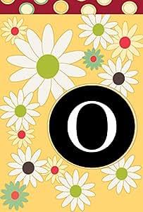Toland Home Garden 119910Monogram bandera de Jardín con inicial O, tela, Yellow/Red/Black, S