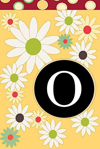 - Toland Home Garden Floral Monogram O 12.5 x 18 Inch Decorative Spring Summer Flower Initial Garden Flag