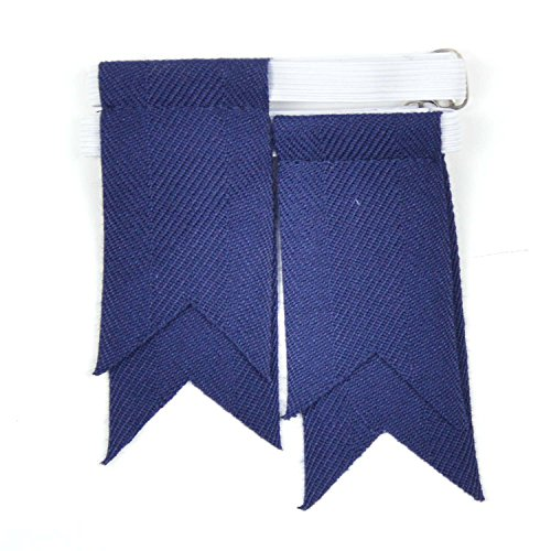- Boys Luxury Plain Kilt Sock Flashes (Navy Blue)