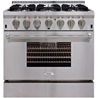 AGA APRO36DFSS  36 Professional Dual Fuel Range with RapidBake Convection, Stainless Steel