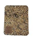 Handmade Reclaimed Granite Cheeseboard with Rough Chiseled Edge, 12' x 11', Brown