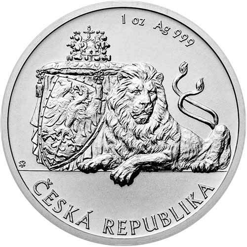 2017 Niue 1//25 oz Gold Czech Lion BU