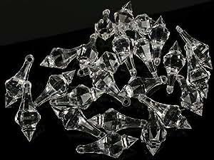 Clear Acrylic Chandelier Drops - Pkg of 112