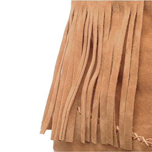 Avec Talons Bouche Femmes Féminins De Xie Fine À Ensemble Tête Brown La Chaussures Hauts Des Confortable Simples Pour 7PP6wHEq