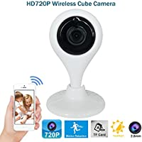 1.0MP HD 720P WIFI Cloud IP Wireless Smart Security Cube Camera 2.8mm Lens Voice Intercom Video Monitor