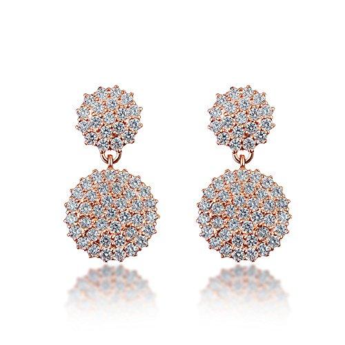 Sterling Silver Crystal Earrings Jewelry