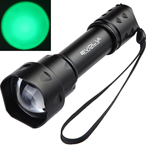 Evolva Future Technology T20 Green LED Rotary Focus Hunting Light Lamp Torch Flashlight (Torch Only)