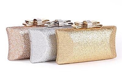 Damara Womens Hardcase Glitter Cut-out Allover Evening Bag