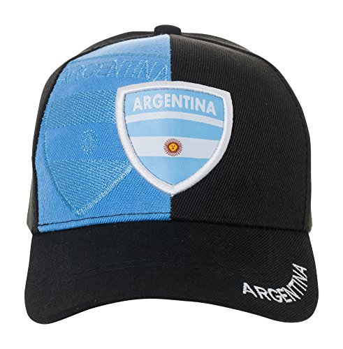 Argentina Country Flag National Argentinian Pride Hat - 100% Cotton Embroidered Cap