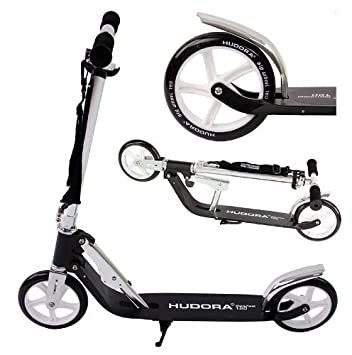 Hudora - Patinete (ruedas grandes de 180 mm), color negro ...