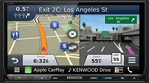 Kenwood DNX893S 6.95' eXcelon Double-DIN AV Navigation System with Bluetooth