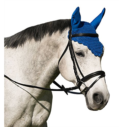 Intrepid International Crochet Fly Veil with Ears Horse Size Scalloped Solid - International Scalloped