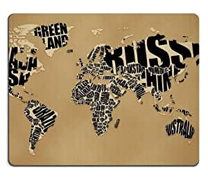 Map Black Letters Abstract Design Mouse Pads Customized Made to Order Support Ready 9 7/8 Inch (250mm) X 7 7/8 Inch (200mm) X 1/16 Inch (2mm) High Quality Eco Friendly Cloth with Neoprene Rubber Luxlady Mouse Pad Desktop Mousepad Laptop Mousepads Comfortable Computer Mouse Mat Cute Gaming Mouse pad by runtopwell