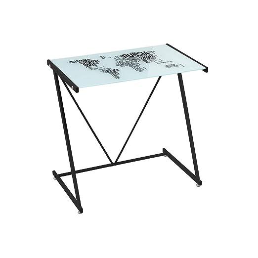 Mesa Escritorio de Cristal Negra Moderna para Dormitorio Factory ...