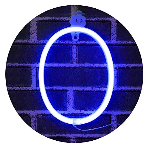 (Obrecis Light Up Letters for Wall Decor, Neon Art Light Letters of The Alphabet Marry Me Decorations for Bedroom, Living Room, Wedding Party-Blue Letter O)