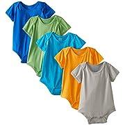 i play. Baby Unisex 5 Pack Organic Brights Short Sleeve Bodysuit