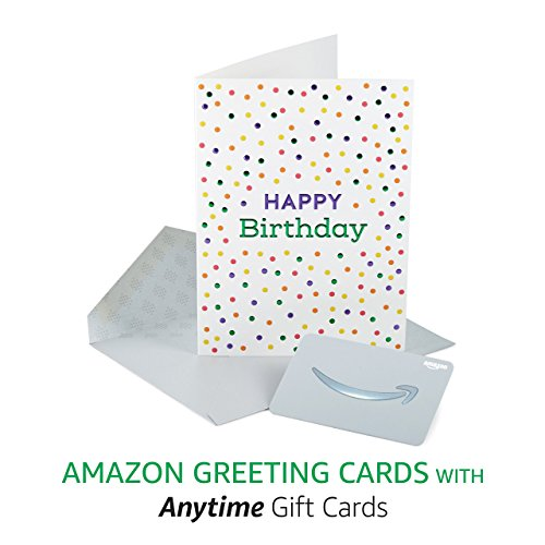 - Amazon Premium Greeting Cards with Anytime Gift Cards, Pack of 3 (Birthday Sprinkles Design)