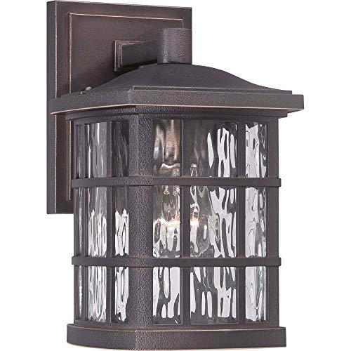 Quoizel SNN8406PN Stonington Outdoor Wall Sconce Lighting, 1-Light, 100 Watt, Palladian Bronze (11