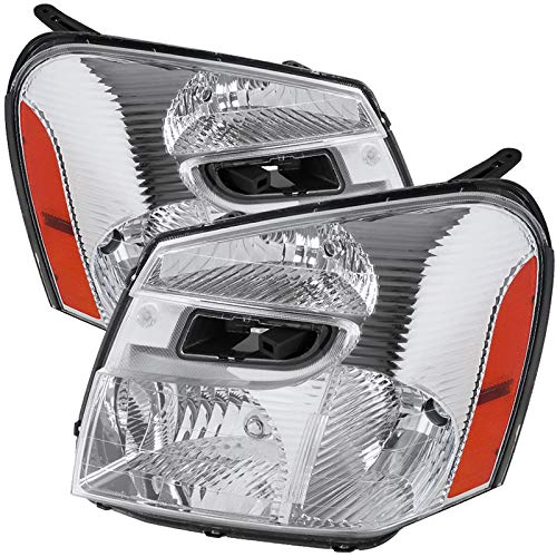 Carpartsinnovate For 05-09 Chevy Equinox Clear Headlights Head Lights Corner Signal Lamps Left+Right ()