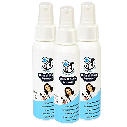 Release Residue Remover (Professional Strength Odor & Stain Remover with Bio-Enzymatic Activity Ideal for Pet Odor & Urine 3 Pack 3 oz. Sprays)