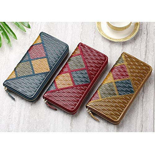 Amazon.com: Blue Stones Fashion Vintage Women Wallets Long ...