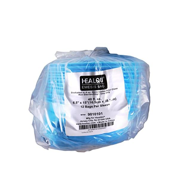 12 Pack Emesis Bags Disposable Vomit Bag Blue Disposable Emesis Bag By HealQu