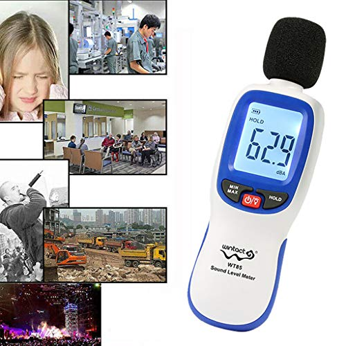 Tharv❤Innocent Noise Meter Cross-Border Supply Large Price Excellent Decibel Meter Blue