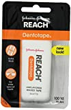 REACH Dentotape Waxed Tape, Unflavored 100 Yards (Pack of 12)